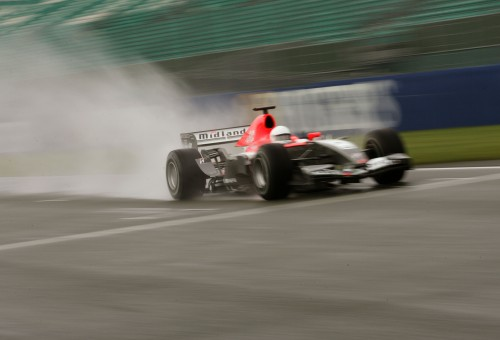 """M.Biaggi išbandė """"Midland F1"""" bolidą"""