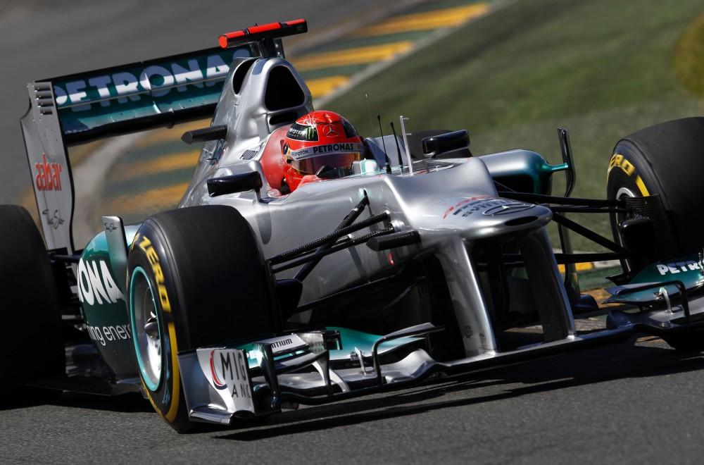 M. Schumacherio lenktynes užbaigė pavarų dėžės gedimas