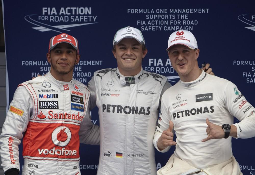 N. Rosbergas: didžiuojuosi tuo, kad pavyko nugalėti L. Hamiltoną