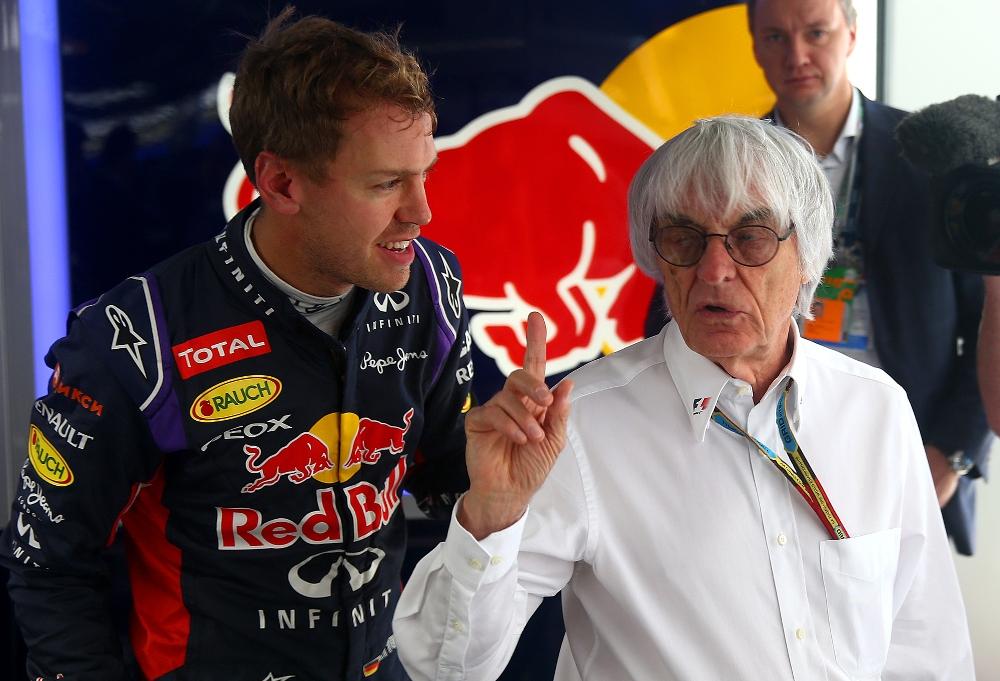 B. Ecclestone: Vettelis yra daugiau auka, nei kaltininkas