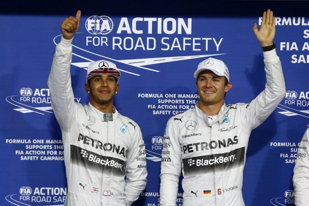 """N. Rosbergas tikėjosi, kad bent vienas """"Williams"""" pilotas aplenks L. Hamiltoną"""