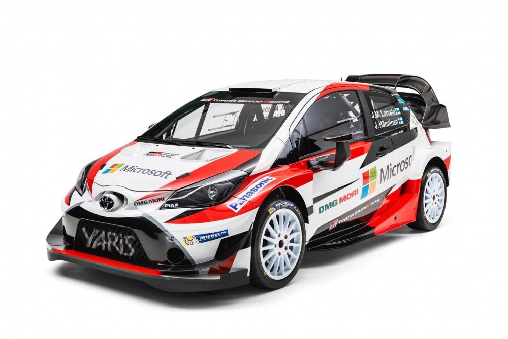 """WRC. """"Toyota"""" pristatė """"Yaris WRC"""" automobilį"""