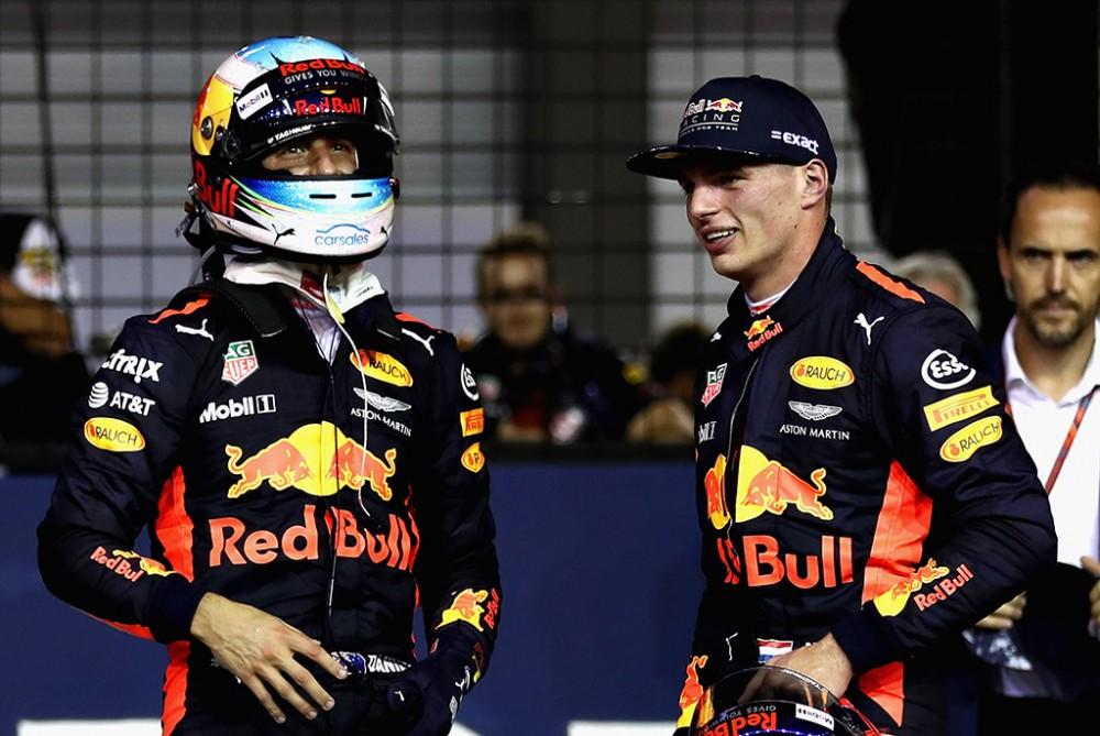 """""""Red Bull"""" nori pratęsti sutartis su D. Ricciardo ir M. Verstappenu"""