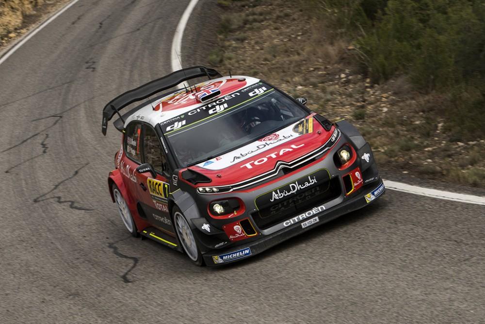 WRC. Katalonijos ralyje triumfavo K. Meeke'as, S. Ogier padidino persvarą čempionate