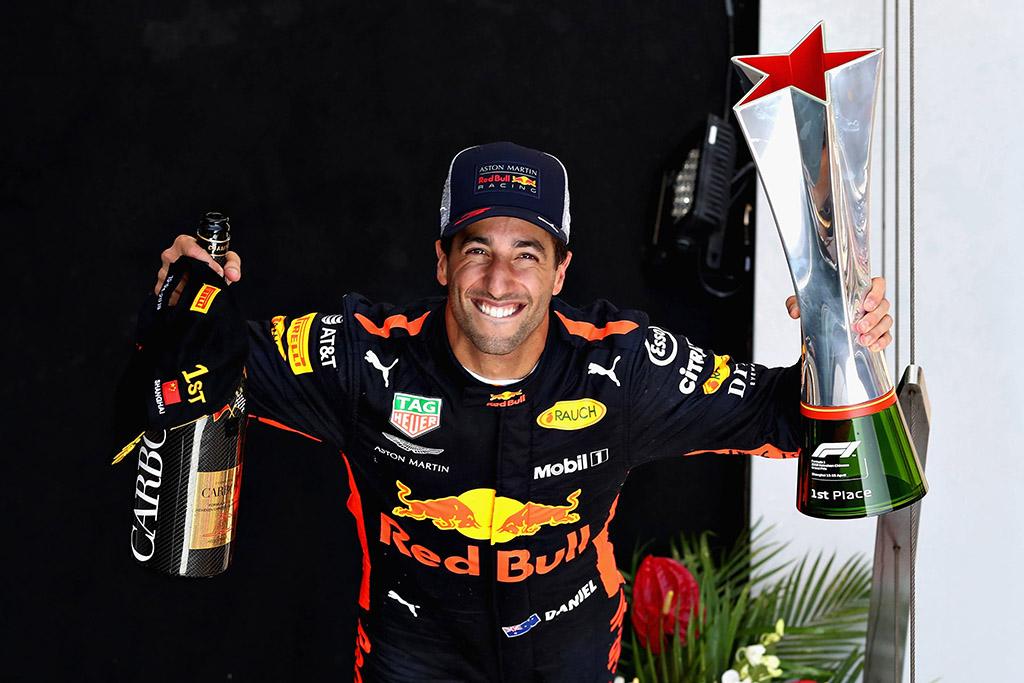 Kinijos GP lenktynėse - D. Ricciardo triumfas