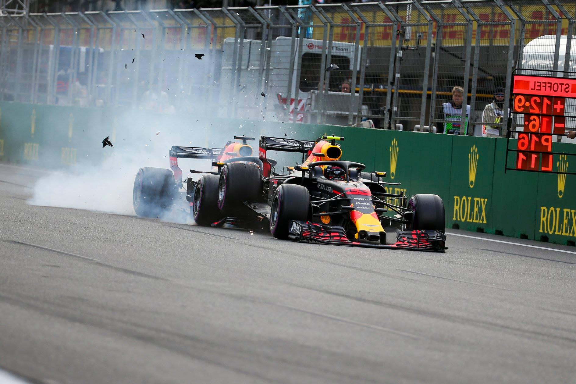 """D. Ricciardo apie """"Red Bull"""" avariją Azerbaidžane: velniop juos visus"""