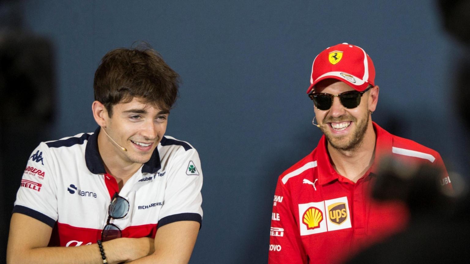 """C. Leclercas tiki, kad """"Ferrari"""" leis jam lenktyniauti su S. Vetteliu"""