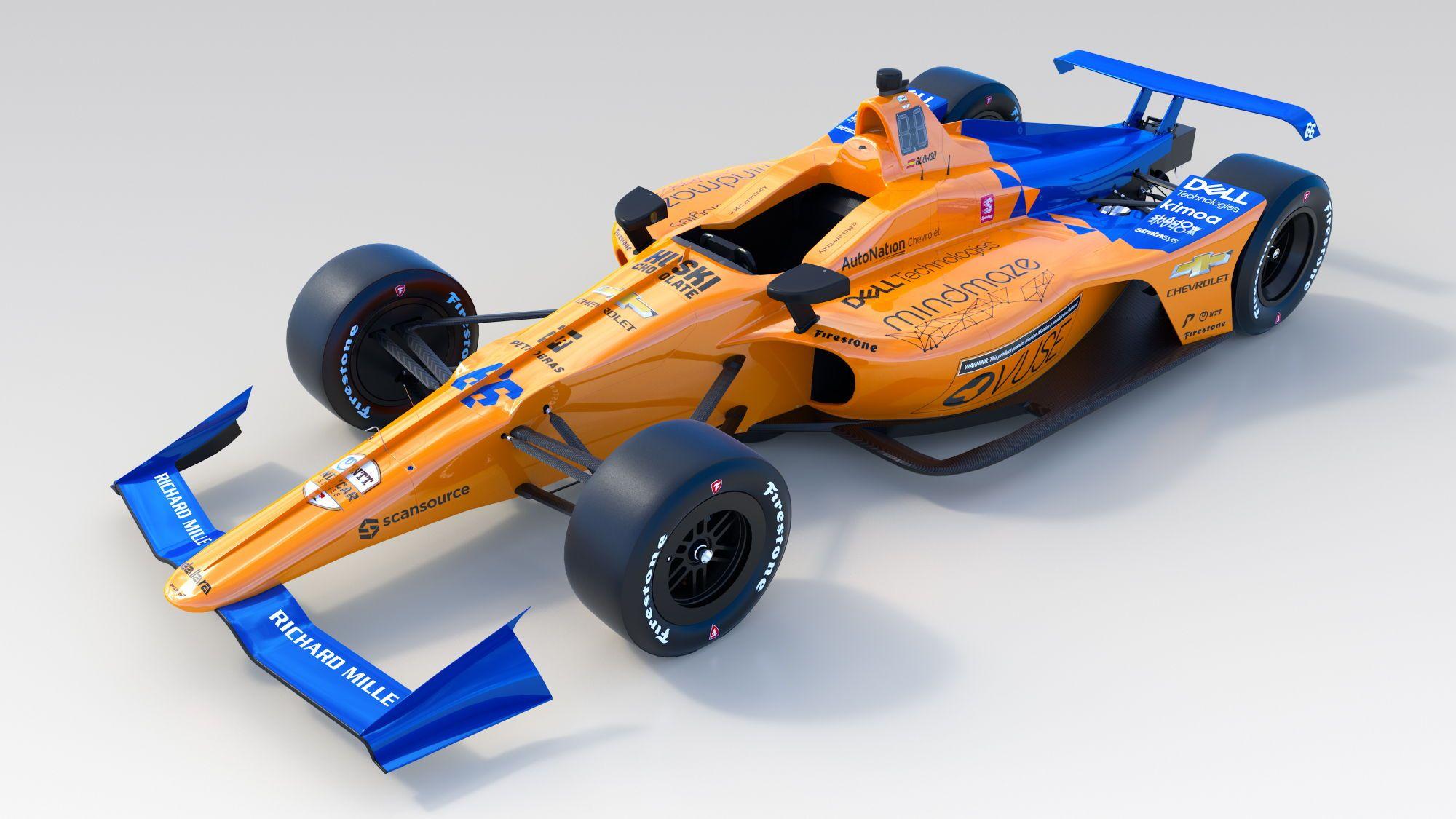 """McLaren"" pristatė ""IndyCar"" bolido išdažymą"
