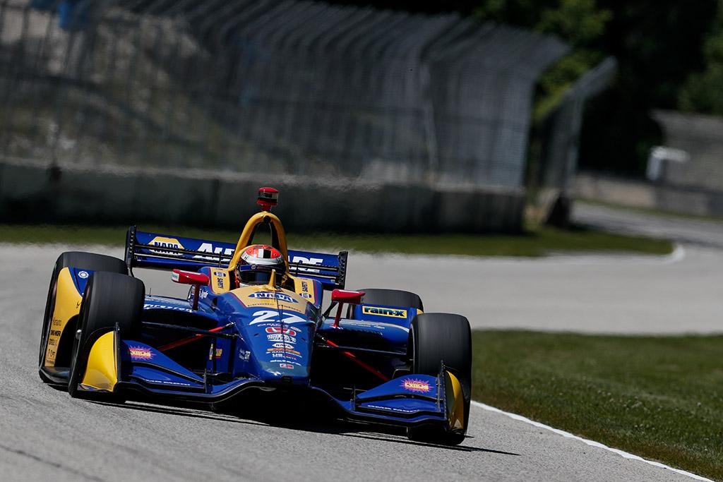 "IndyCar. A. Rossi dominavo ""Road America"" trasoje vykusiose lenktynėse"