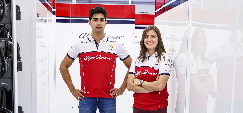"""Jaunieji """"Alfa Romeo"""" pilotai Prancūzijoje išbandys F-1 bolidą"""