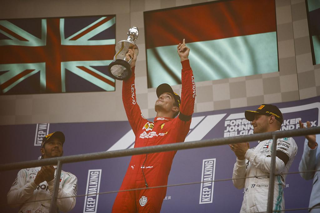 Belgijoje pirmąją pergalę iškovojo C. Leclercas