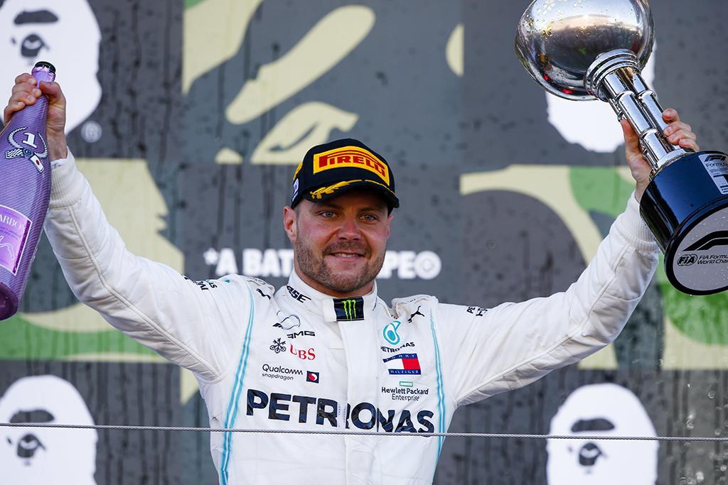 "Japonijos GP lenktynėse nugalėjo V. Bottas, ""Mercedes"" tapo čempione"