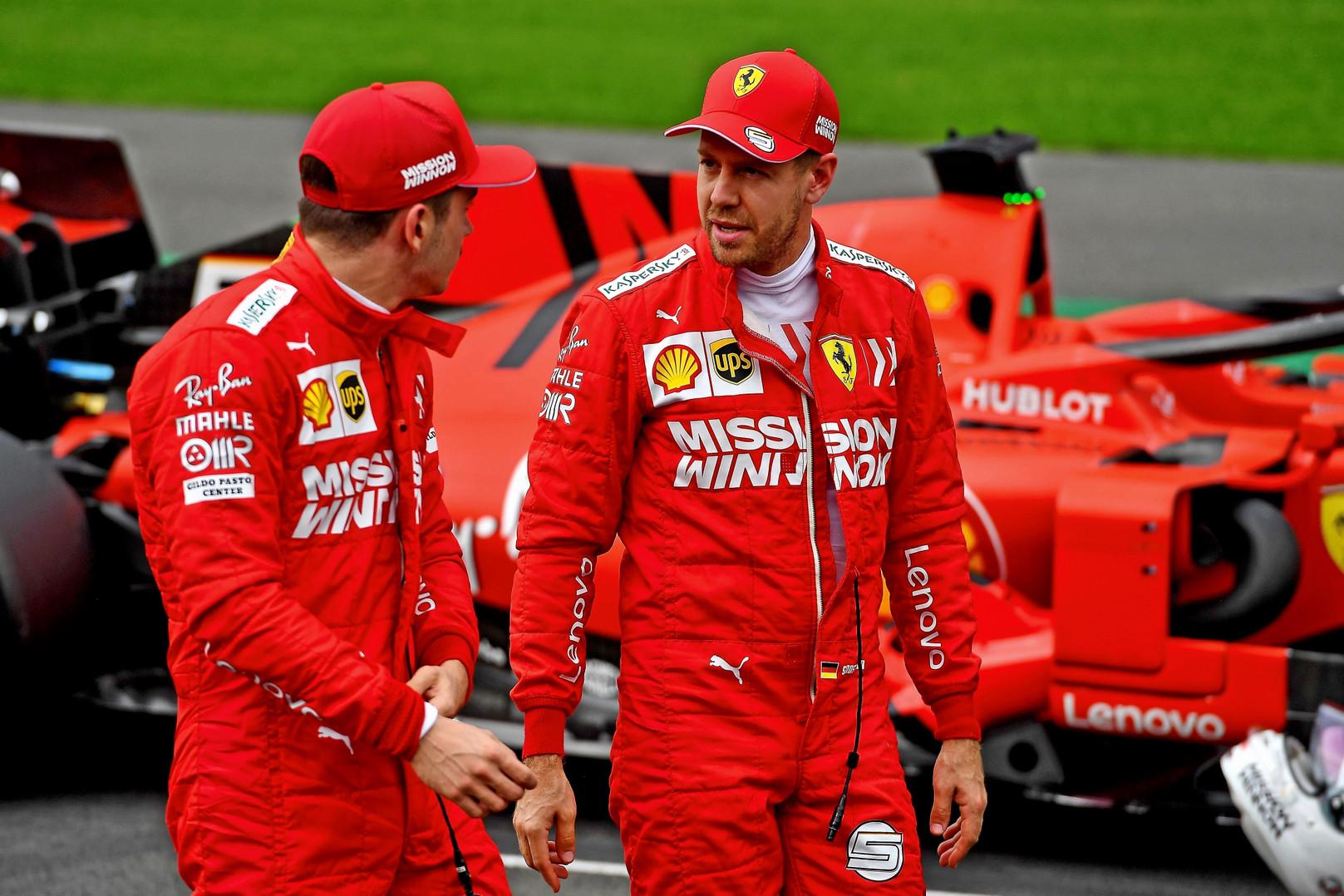 C. Leclercas: S. Vettelis žino, kad jam nereikėjo sukti į kairę
