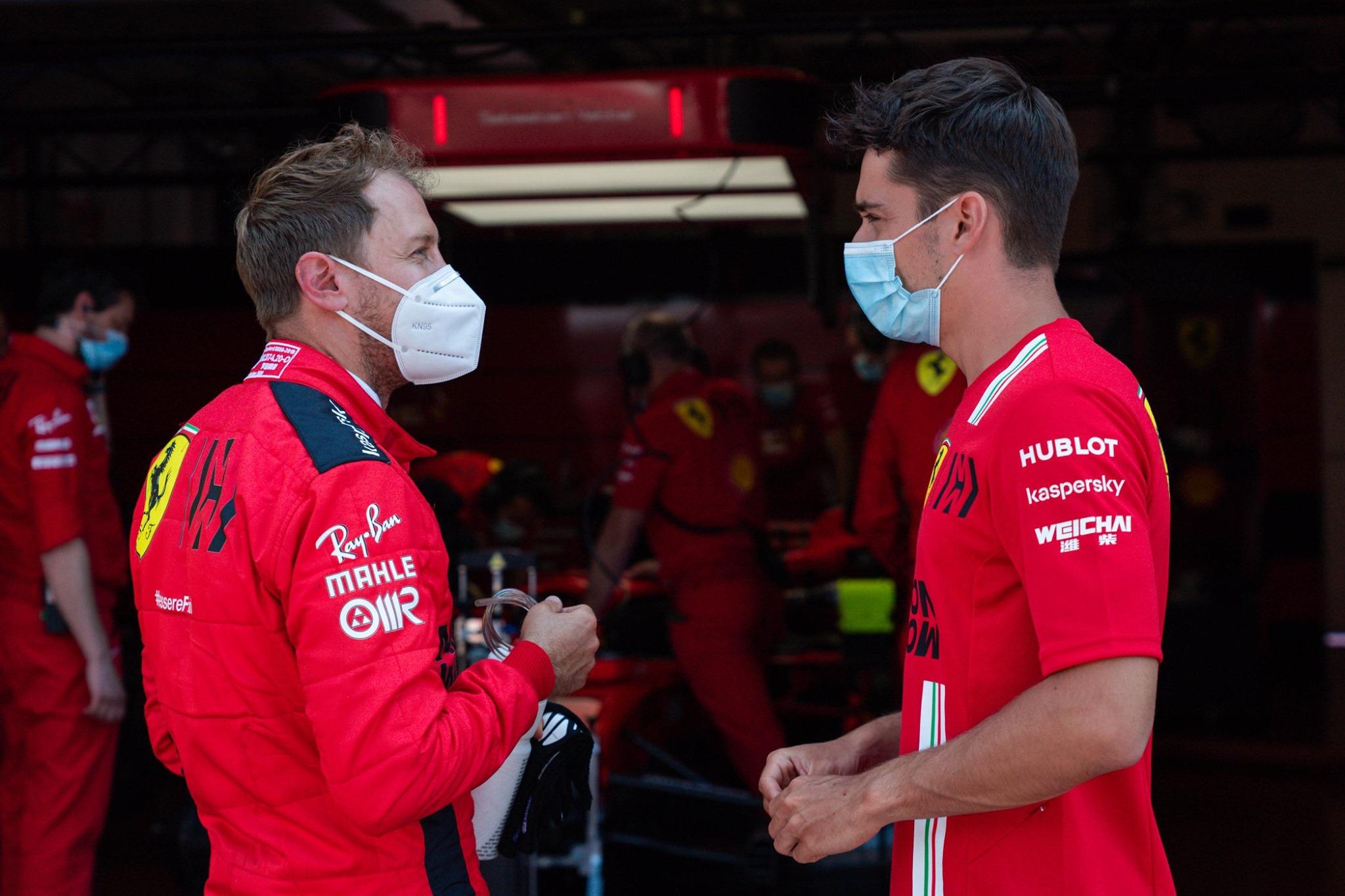 B. Ecclestone'as: S. Vettelio tikslas - šiemet įveikti C. Leclercą