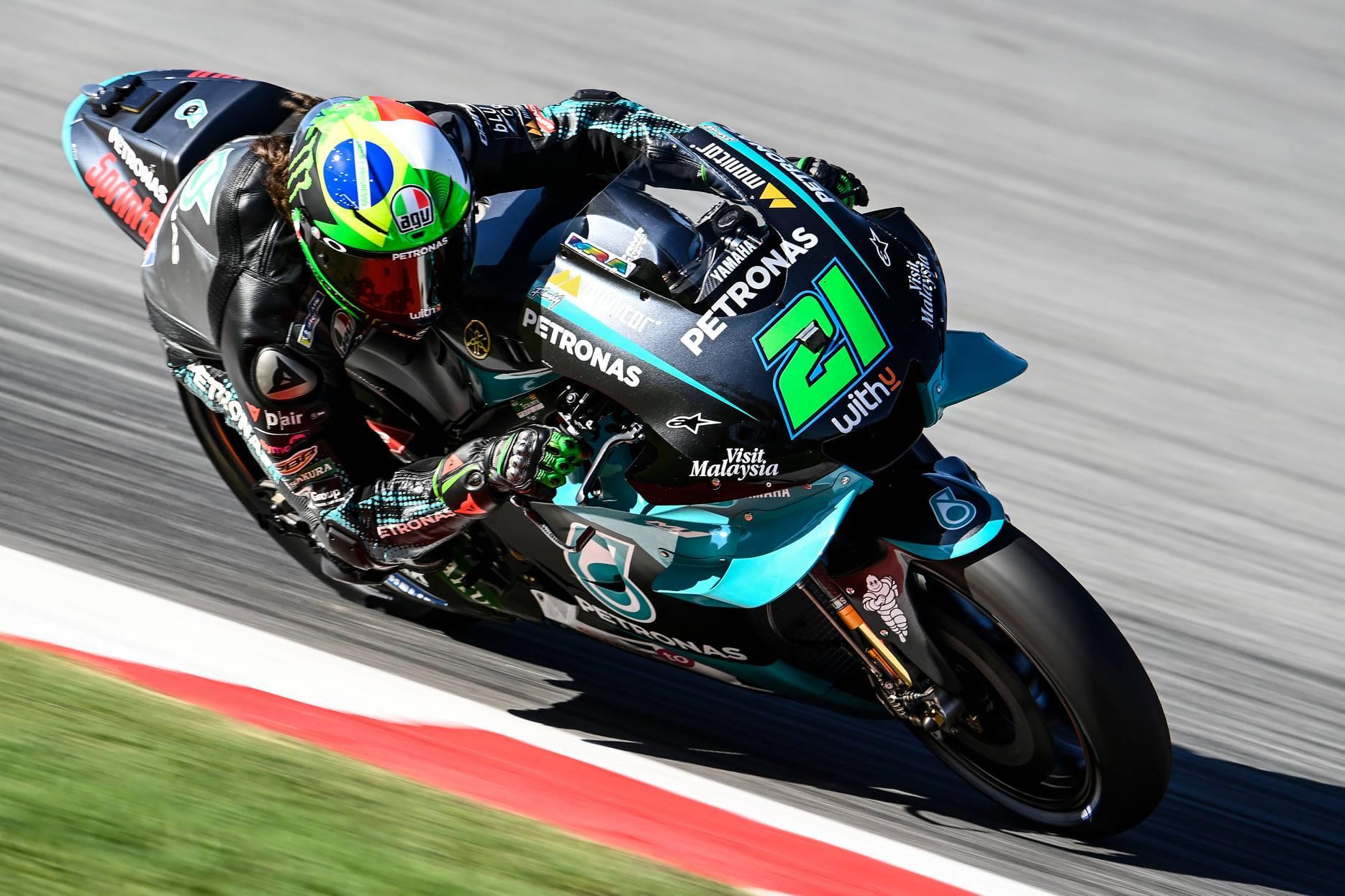 "MotoGP. Barselonoje pirmąją ""pole"" iškovojo F. Morbidelli"