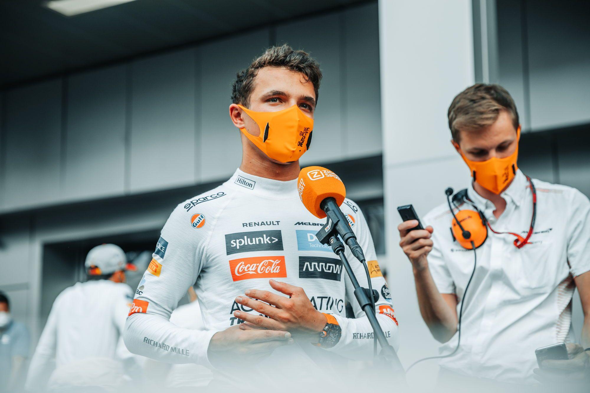 Neatlaikęs L. Hamiltono spaudimo L. Norrisas: negaliu būti nusivylęs vieta ant podiumo