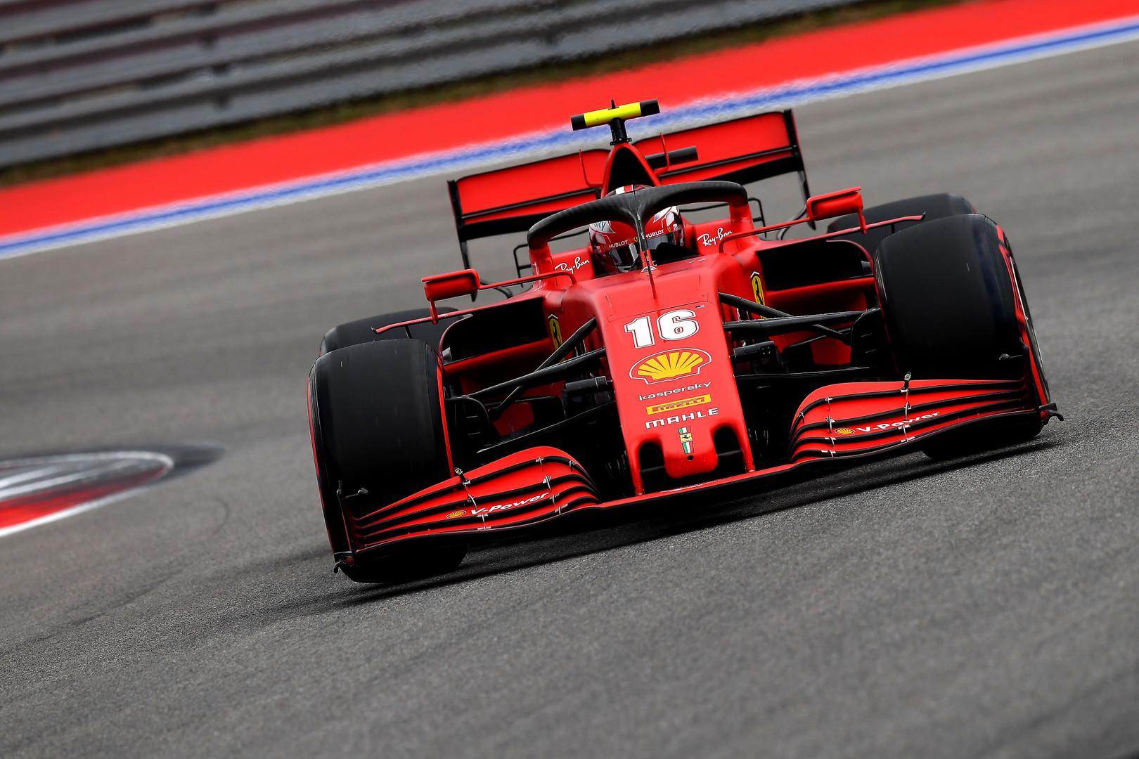 C. Leclercas liko patenkintas pasiektu rezultatu Rusijoje