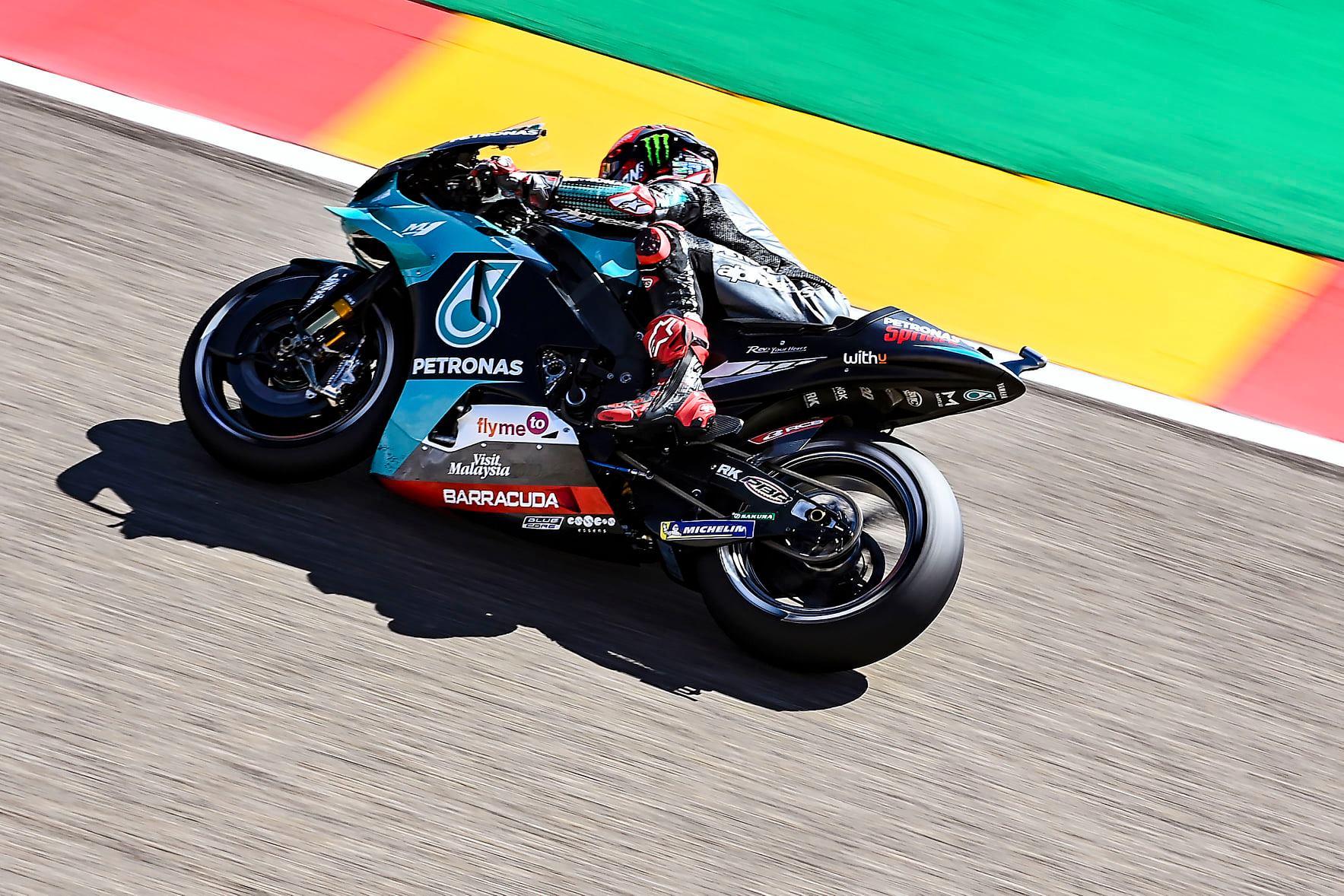 "MotoGP. Aragone iš ""pole"" pozicijos startuos F. Quartararo"