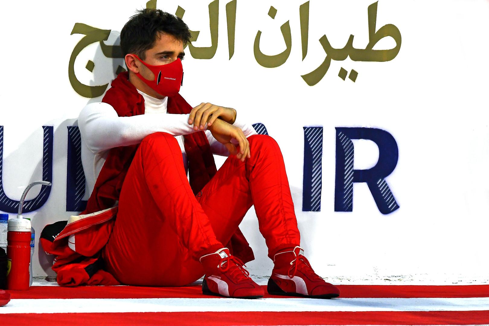 C. Leclercui - trijų starto pozicijų bauda