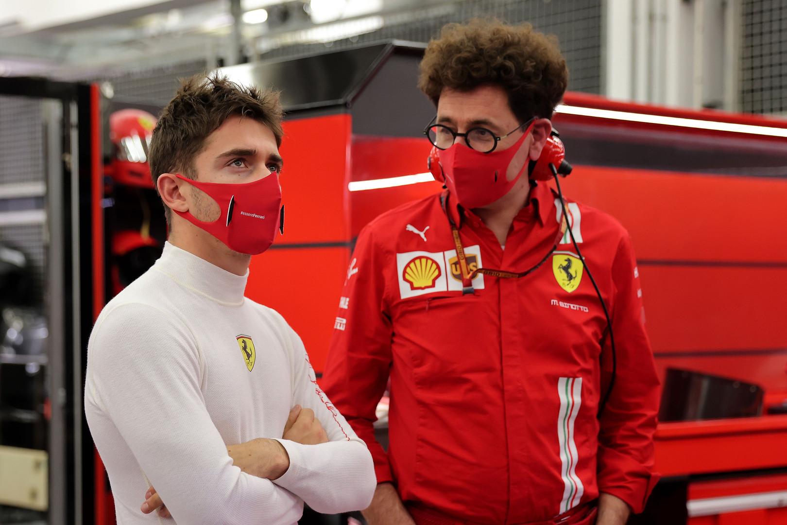 M. Binotto: Leclercas įgijo labai daug lyderio savybių