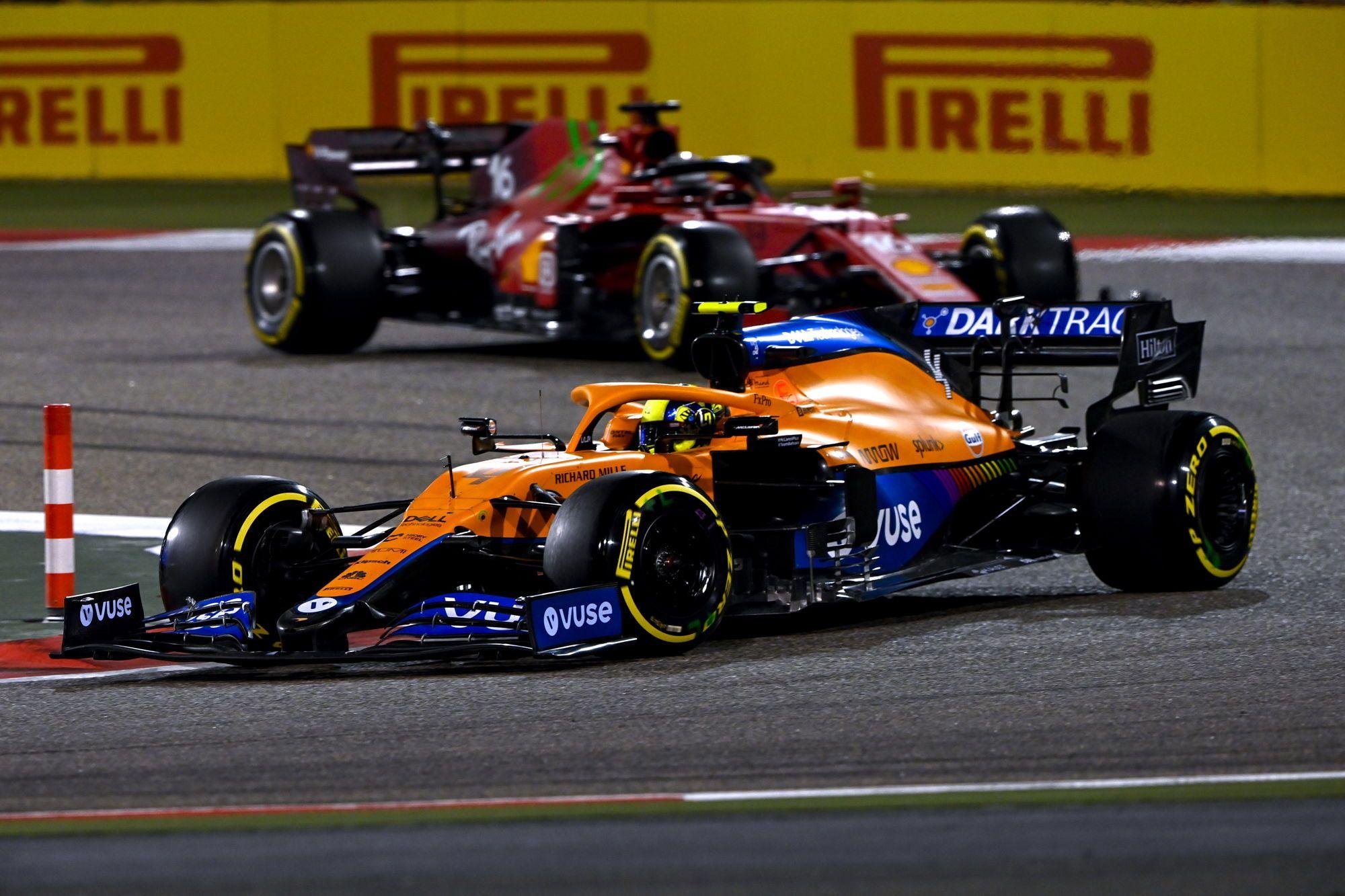 """L. Norrisas: """"Ferrari"""" greitesnė už """"McLaren"""" kvalifikacijoje, bet ne lenktynėse"""