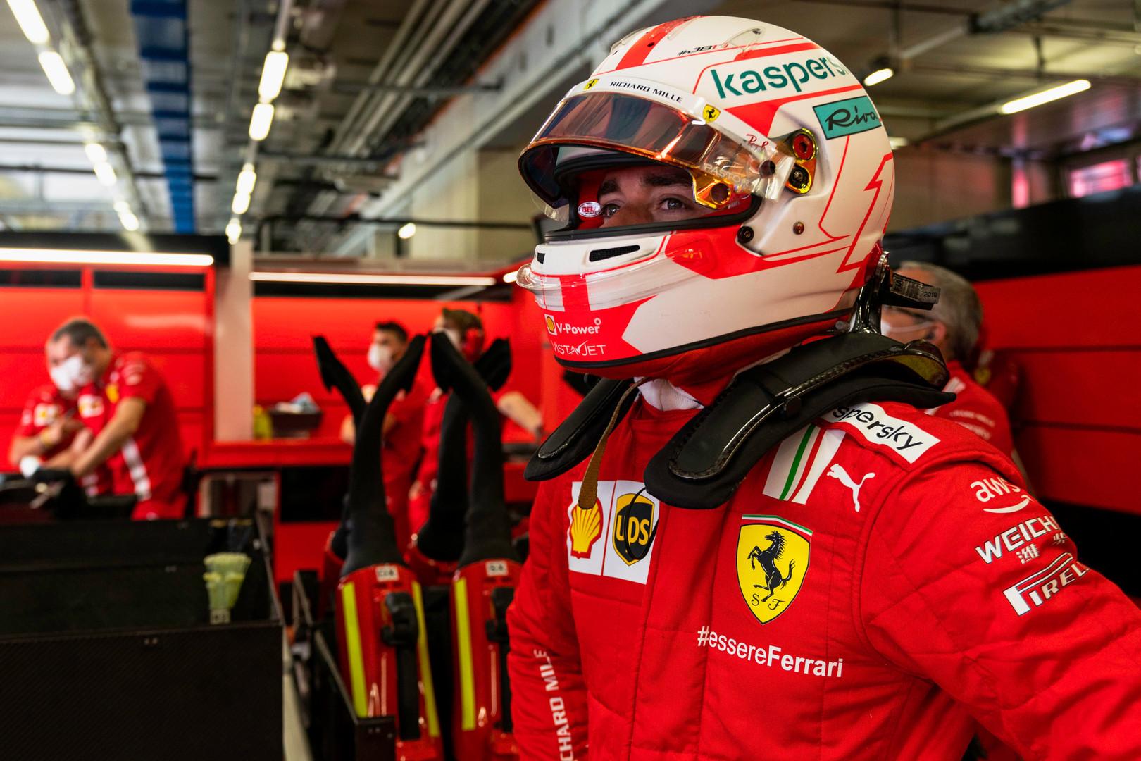 C. Leclercas susipyko su M. Binotto per Italijos GP