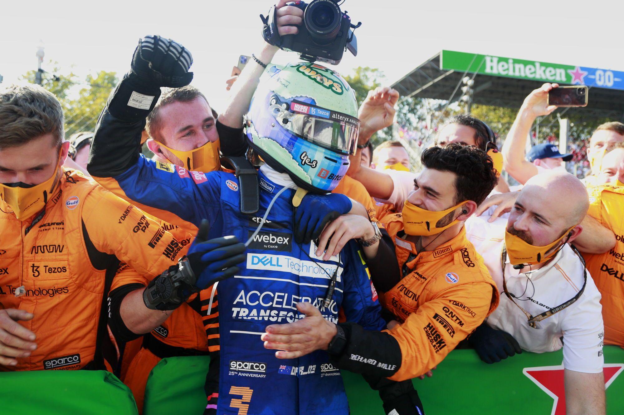 D. Ricciardo: žinojau, kad pergalė anksčiau ar vėliau ateis