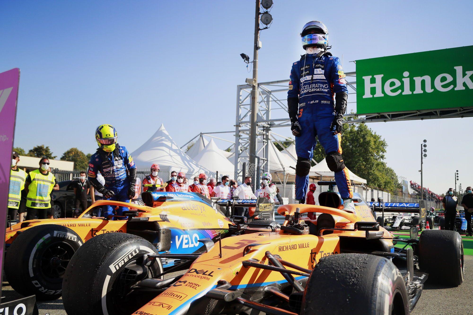 Kodėl L. Norrisas neatakavo D. Ricciardo?
