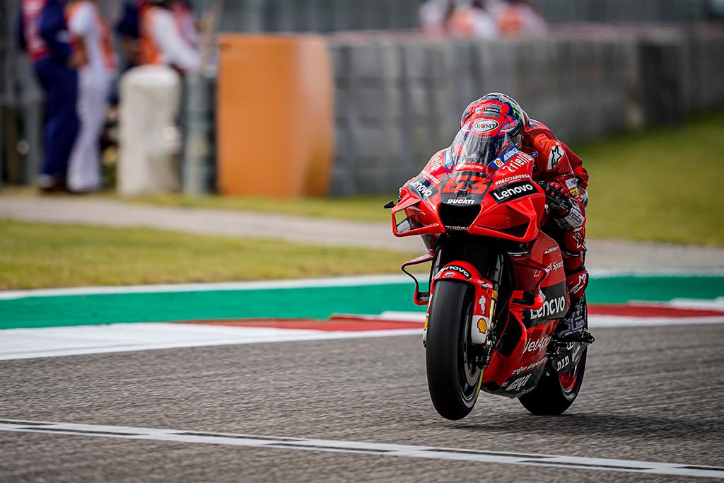 "MotoGP. Ostine - trečioji iš eilės F. Bagnaios ""pole"""