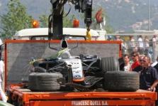 J.P.Montoya patyrė kraupią avariją