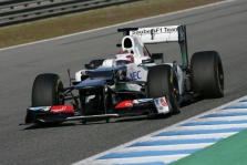 "K. Kobayashi išmėgino ""Sauber C31"""