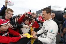 """M. Schumacheris: """"Niekada nepasiduoti"""""""
