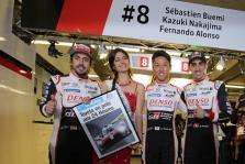 """WEC. F. Alonso ir """"Toyota"""" 24 val. lenktynes Le Mane pradės iš """"pole"""" pozicijos"""