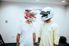 L. Hamiltonas: S. Vettelis pirmas pasiūlė apsikeisti šalmais