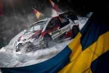 """<span style=""""background:#000000; color:white; padding: 0 2px"""">WRC</span> Švedijos ralyje pirmauja O. Tanakas, dėl antros vietos vyksta atkakli kova"""