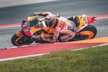 """<span style=""""background:#d5002c; color:white; padding: 0 2px"""">MotoGP</span> M. Marquezas septintą kartą iškovojo """"pole"""" COTA trasoje"""