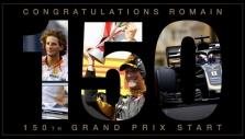 Komanda pasveikino R. Grosjeaną su 150-tuoju GP etapu