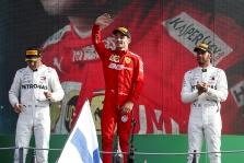 Atlaikęs varžovų spaudimą, Italijoje antrą pergalę iš eilės iškovojo C. Leclercas