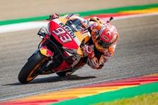 """<span style=""""background:#d5002c; color:white; padding: 0 2px"""">MotoGP</span> Aragone - lengva M. Marquezo pergalė"""