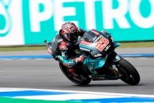 "<span style=""background:#d5002c; color:white; padding: 0 2px"">MotoGP</span> Tailande - ketvirtoji F. Quartararo ""pole"""