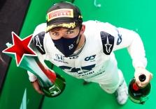 Įvykių nestokojusiose lenktynėse Italijoje - netikėta P. Gasly pergalė