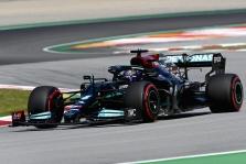 Ispanijos GP lenktynių pabaigoje pergalę iškovojo L. Hamiltonas